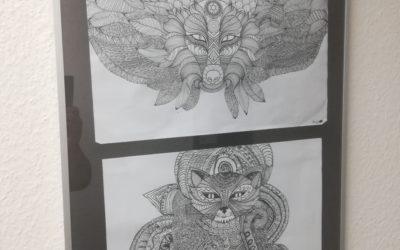 Schüler und Schülerinnen der Klassen 8 – 10 stellen ihre Kunstarbeiten öffentlichaus